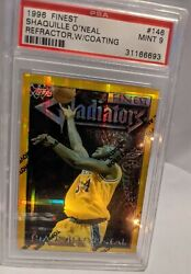 1996 Shaquille Oand039neal Topps Finest 146 Gold Refractor W/coating Psa 9 🔥pop14🔥