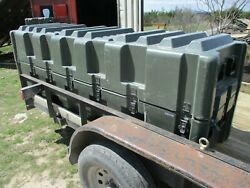 Huge 8and039 Used High-impact Hardigg Plastic Transport Case 20 Latches 95x28x33 Od