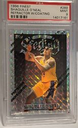 1996 Finest Uncommon Silver Refractor Shaquille Oandrsquoneal 289 W/ Coating Psa9 Read