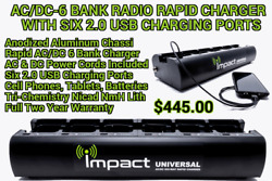 Impact Acdc 6 Bank Charger 2.0 Usb Ports For Motorola Mag One/bpr40, Bc130