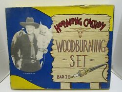 Rare 1950 Hopalong Cassidy Woodburning Set By American Toy And Furniture Co.