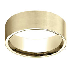 Jewelry 18k Yellow Gold 8.00 Mm Comfort-fit Men's Wedding Band Ring Sz-7