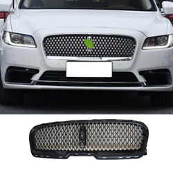 For Lincoln Continental 2017-21 Gloss Black Front Center Mesh Grille Grill Cover