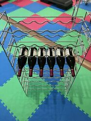 Wine Rack - Modular, Stackable,stainless Steel, A Total Of 17 Modules