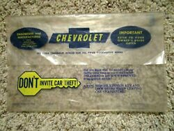 1966-1968 Chevelle Factory Gm Original Owners Manual Glovebox Bag For Literature