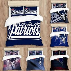 New England Patriots Duvet Cover Pillowcases All Sizes Bedding Comforter Cover