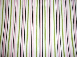 Spring Beauty Striped Green Pink Michael Miller Premium Quilting Cotton Fabric $12.85