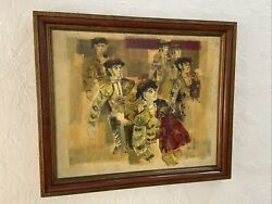 Mystery Artist Mcm Signed Oil On Canvas - Bullfighters In Wait - Lr