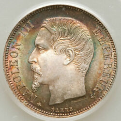 1860-a Franc Pcgs Ms 65 Ogh France Old Green Holder Amazing Eye Appeal