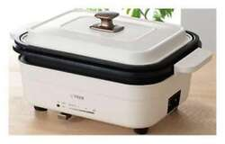 [tiger] Grill Pan Hot Plate Octopus Takoyaki Plate Attached Crl-a30w-w Ac220v