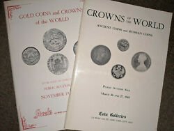 1969 1970 Crowns Of World Ancient Russian Gold Coins Auction Booklet Lot Of 2