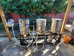 Custom 15 Gallon Keggle Stainless Herms Automated - All Grain Beer Brewing