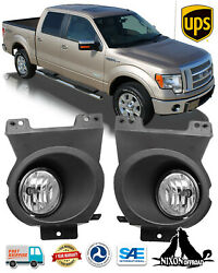 Clear Lens Driving Fog Lights Front Bumper Lamps Pair For 2009 2010 Ford F-150