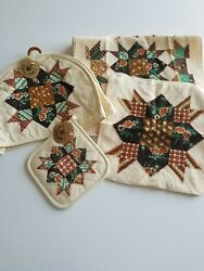 Vintage Toaster Cover, Cannon Cotton Dish Hand Tea Towels, Washcloths Pot Holder