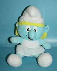 Smurfette 10 Smurfs Girl Plush Doll Stuffed Hanging Suction Cup Hangs Soft Toy