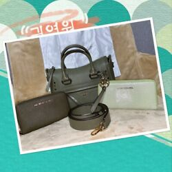 🌹💐NWT Michael Kors Carine Small Studded Satchel Crossbody amp; Wallets Army Green $189.99