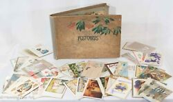 Antique Rare Postcard Collection 220 Total With Book, See Video In Description
