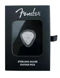 2021 5 Gram Pamp Suisse Sterling Silver Playable Fender Guitar Pick .925 E