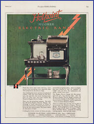 Vintage 1921 Hotpoint Hughes Electric Range Stove Oven Edison Appliance Print Ad