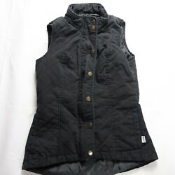 Magellan Womenand039s Size Small Black Zip Up Snap Quilted Vest Outdoors Chore Barn