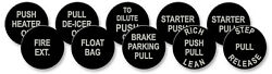 Curtissp-40 Aircraft Push Pull Button Set Of 10 1940s Acid Etched Aluminum