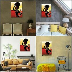 African American Wall Art Women Painting Canvas Pictures Print Artwork Poster