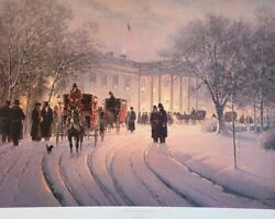 G. Harvey An Evening With The President Signed And Numbered Print W/ Coa