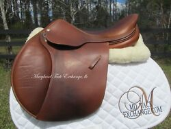 17.5 Land039apogee Lx French Close Contact Jumping Saddle 2a Flaps-super Nice Cond.