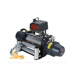 Vi Universal Tds-8.5 8500lb Pound Electric Recovery Winch 12v Steel Cable Rope