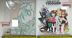 Art Of Trigger Animation Studio 9 Space Patrol Luluco Art Book And Paper Set Anime