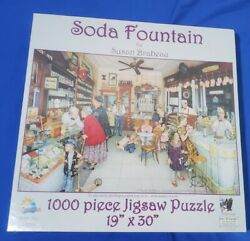 Soda Fountain 1000 Pc Jigsaw Puzzle New In Box Sealed By Susan Brabeau
