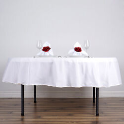 20 White 90 Round Polyester Tablecloths Wedding Catering Restaurant Supplies