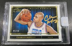 Charles Barkley 2019-20 Panini One And One Timeless Moments Auto Gold 09/10 Ssp