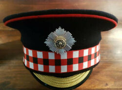 Scots Guards Warrant Officer Class 2 Forage Peaked Cap And Cap Badge New Size 58