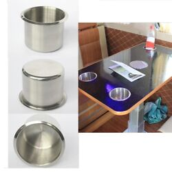 50pcs Stainless Steel Recessed Cup Drink Holder For Marine Boat Rv Camper 68mm