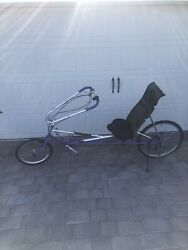 Very Early Rans Stratus Recumbent Bicycle With Tiller Handlebar