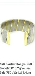 Gorgeous Authentic Cuff/bangle 18kt/ss. Gorgeous And Heavy. Vgc