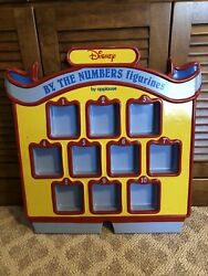 Vintage Disney By The Numbers Pvc Figurines Applause Store Display Case Sign Toy