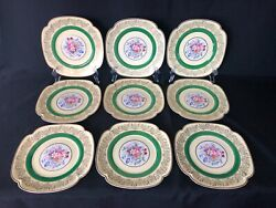 Johnson Brothers Pareek Square Salad Plates Yellow And Green Set Of 9