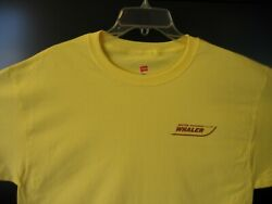 Boston Whaler T-shirt-hanes-size Small-color Yellow-short Sleeve