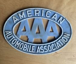 Aaa Vintage American Association Plate Tag Topper Accessory