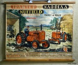 Nuffield Universal Tractors Wall Hanging Advertising Board Used 50s British