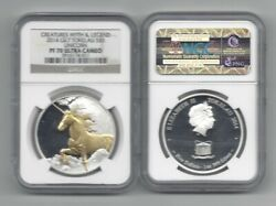 2014 Gilt Tokelau 5 1oz Silver Creatures Of Myth And Legend Proof 70 Uc