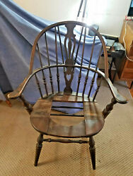 Rare Unique Design Antique Windsor Chair Sikes Chair Co 1429 Buffalo Ny