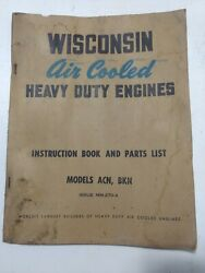 1955 Wisconsin Air Cooled Engine David Bradley Tractor Manual Acn Bkn