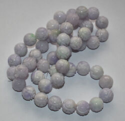 Jade Lavender Carved Dragon Beads Shou Strand For Necklace Estate Lot Chinese