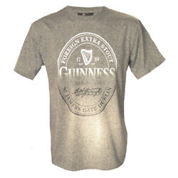 Mens T-shirt Guinness With Foreign Extra Stout Bottle Label Print, Cotton