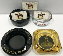 Vintage Casino Ashtray Lot Jessie Beck'sharold's Clubpalace Clubsilver Spur