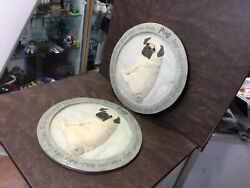 Lot Of 2 Pug Garden Stepping Stone Or Hanging Plaque 12''