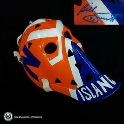 Billy Smith Signed Goalie Mask New York Signature Edition Vintage Autographed